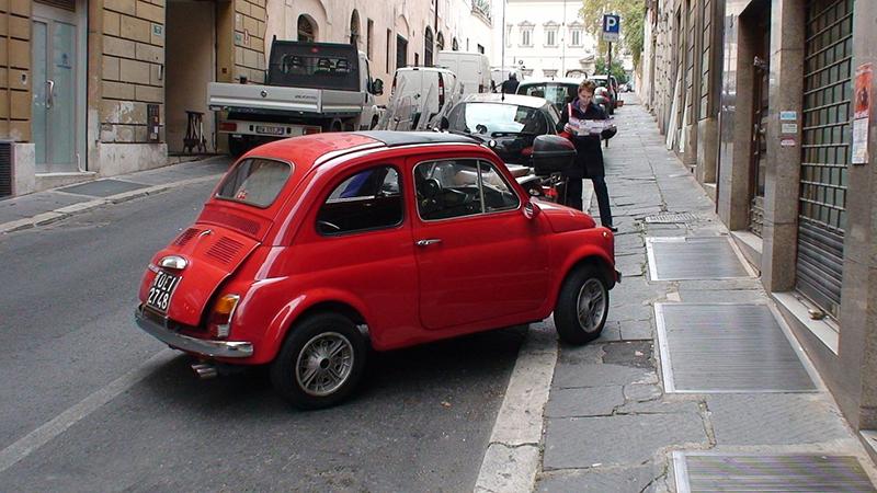 aparcamiento acera