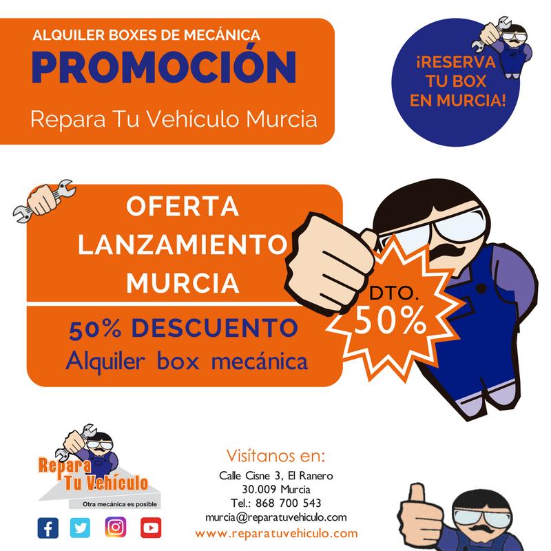 Promoción lanzamiento Repara Tu Vehículo Murcia